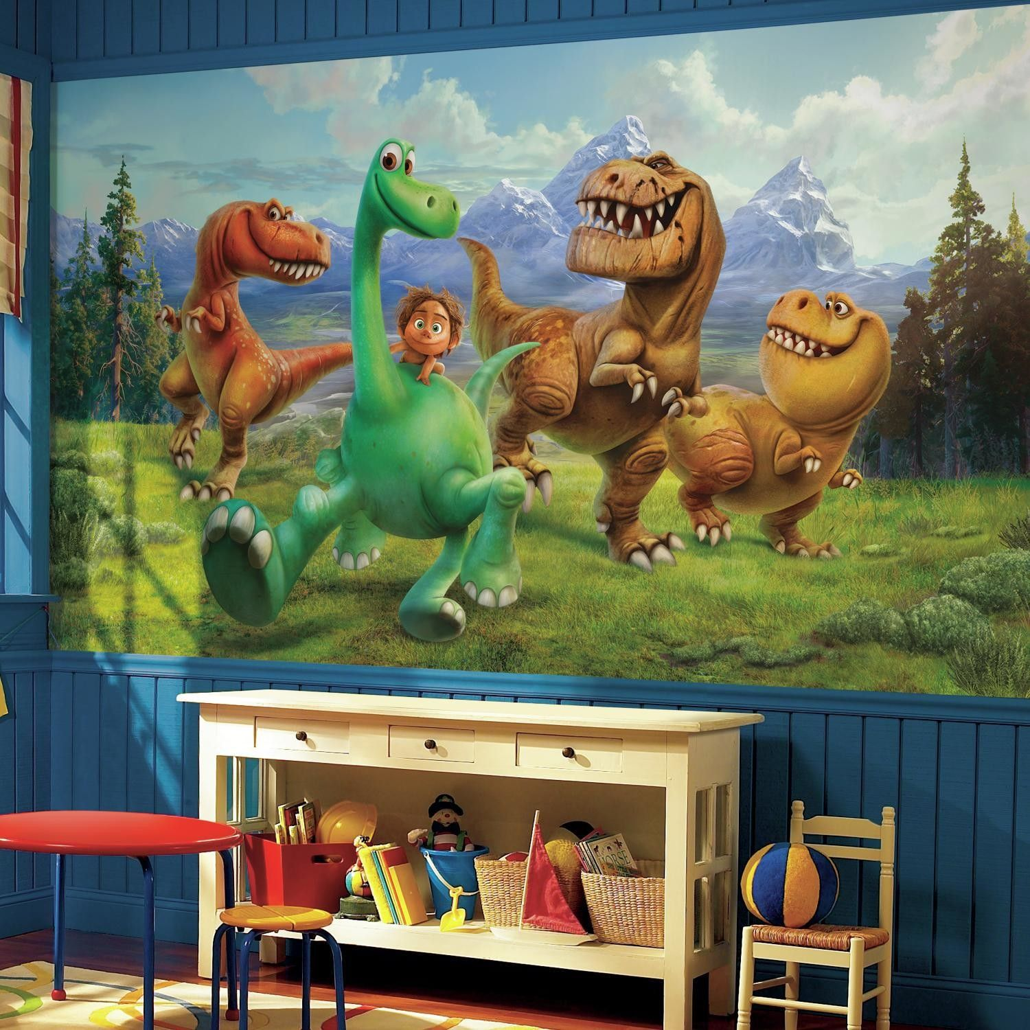 The Good Dinosaur Chair Rail Prepasted Wall Mural Liam Pinterest