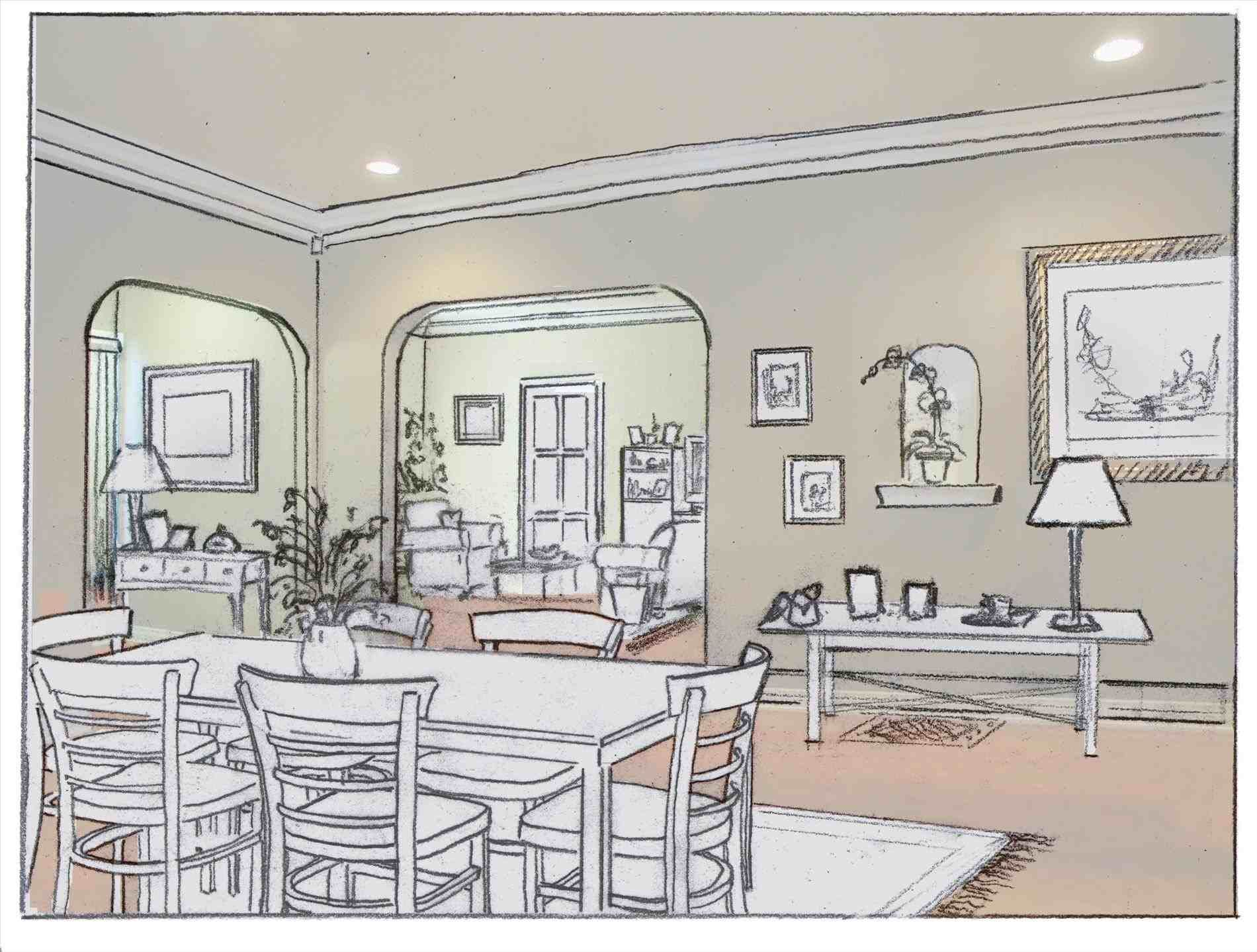 Interior Design Sketches Dining Room Pinterest Interior Design