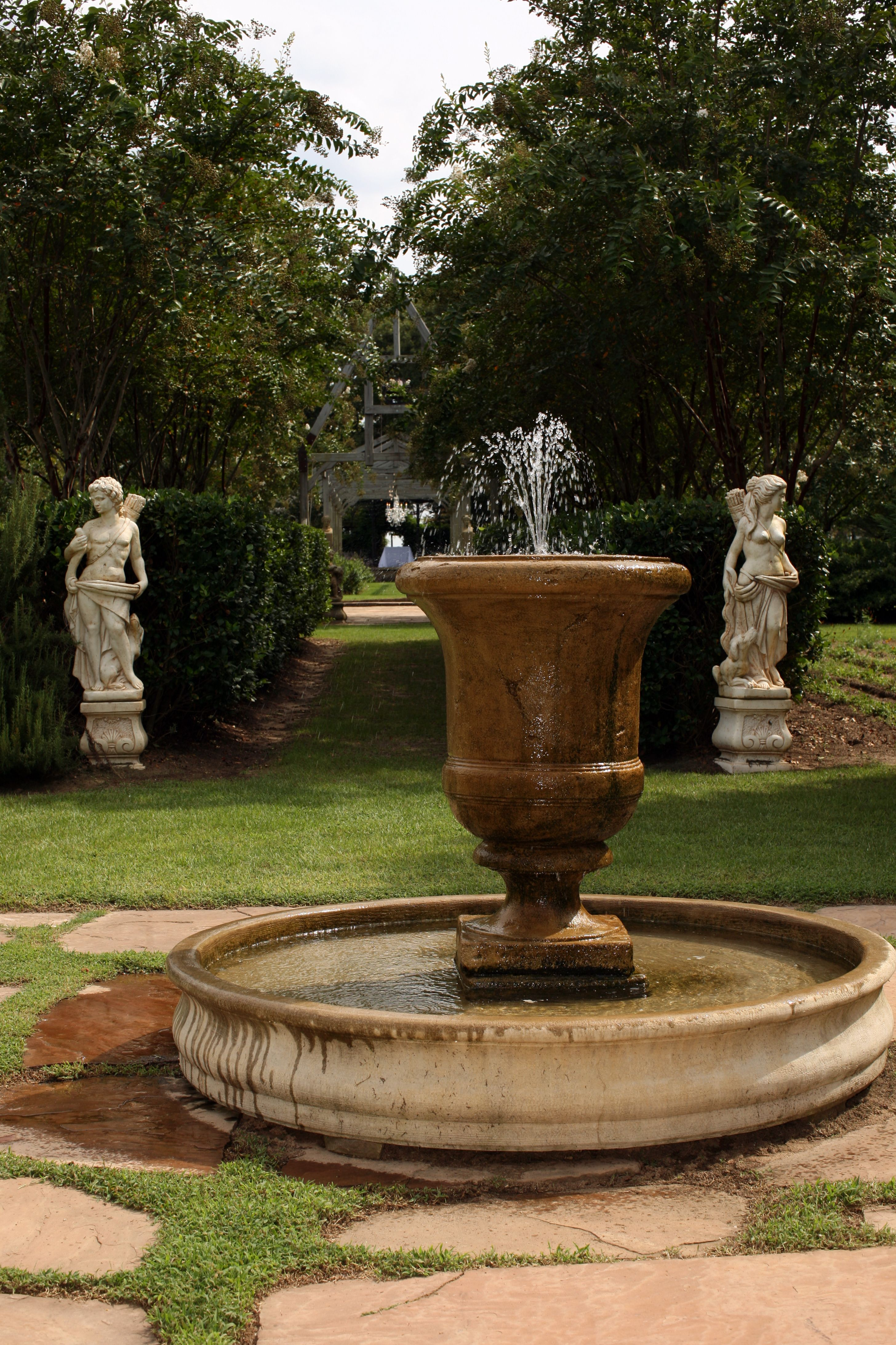 fountain just arrived, love it | water/garden features | Pinterest