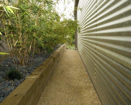 Gartenmauer Ideen Niedrig Bauen Beetumrandung Holzlatten Garten