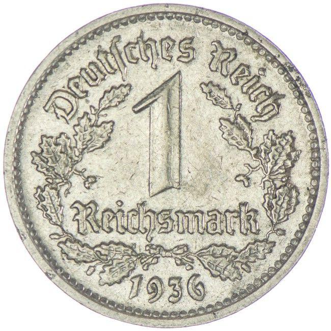 Reichsmark 1936 G, Silber