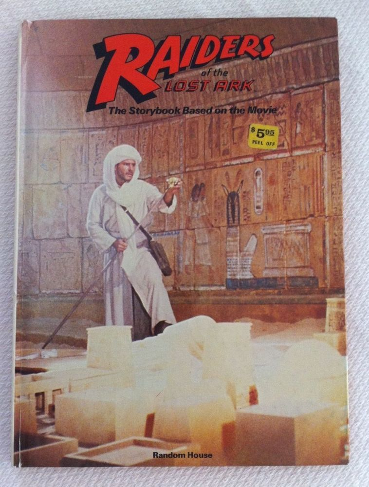 Raiders Of The Lost Ark Indiana Jones Story Book Random House 1981 Harrison Ford