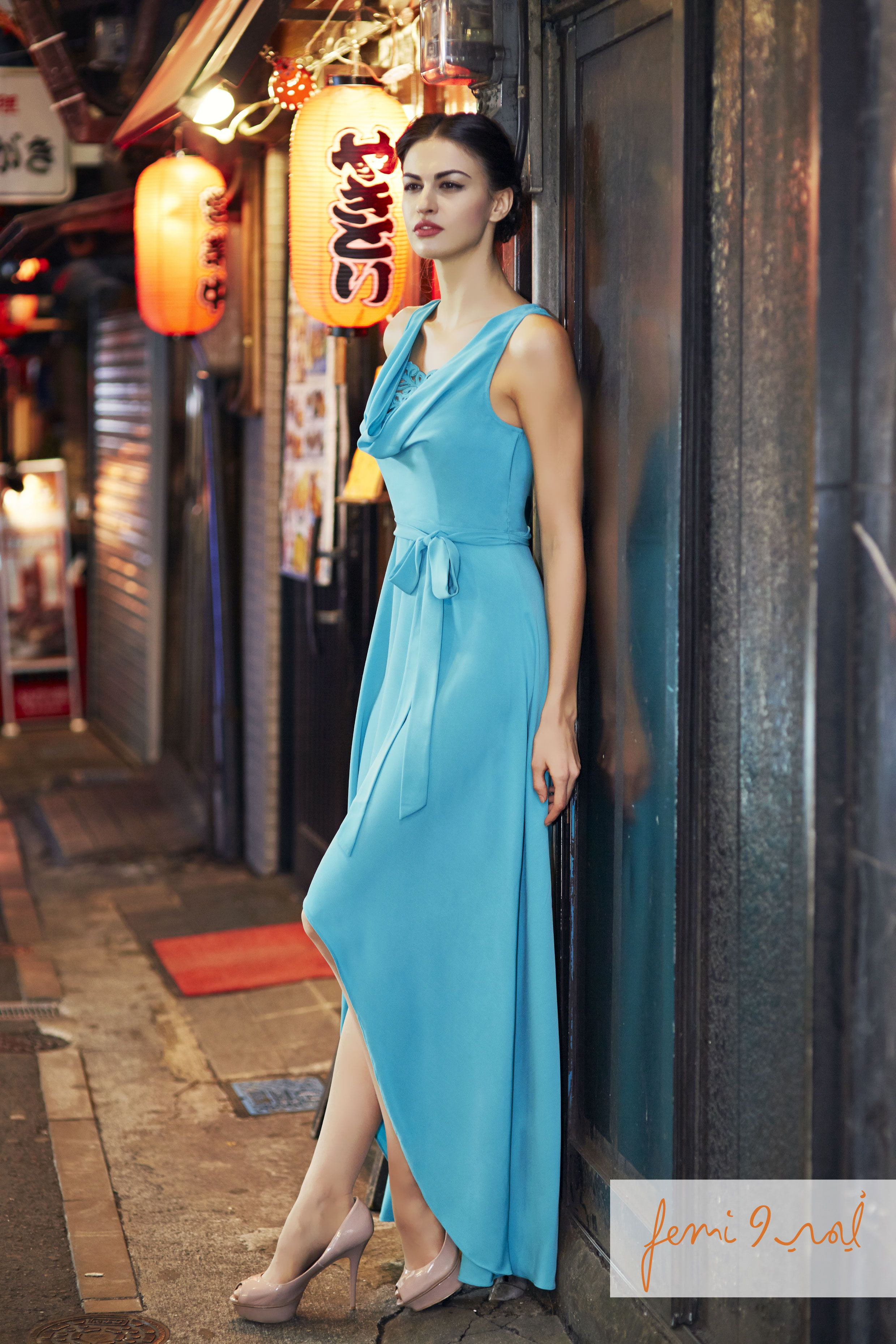 Summer 2014 Collection Fashion Dresses High Low Dress