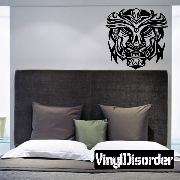 Ancient Mask Wall Decal - Vinyl Decal - Car Decal - DC 8009