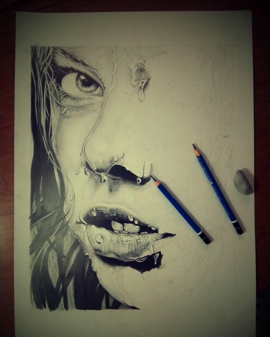 Cacchio!!!! Questo è proprio tosto..... Non finisce mai!!! #drawing #drawingpencil #disegno #artstagram #ear #viso #art #matita #good #gommapane #breadrubber # # #portrait #portret #watereffect #eyes #naso #carta #paper # #bocca #labbra #realistico #realistic #oalmenociprovo #effettobagnato