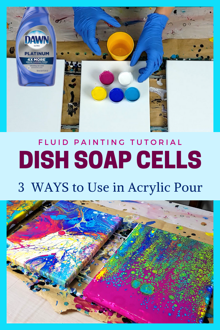 Acrylic Pouring with Dish Soap - 3 MUST SEE 🤓Ways