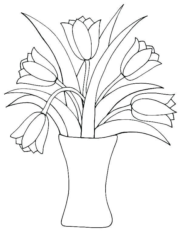 professional coloring pages flowers - photo#15