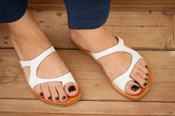 a54638eb84ac5 Pin by pam wheary on Shoes in 2019 | White sandals, Sandals, Leather ...