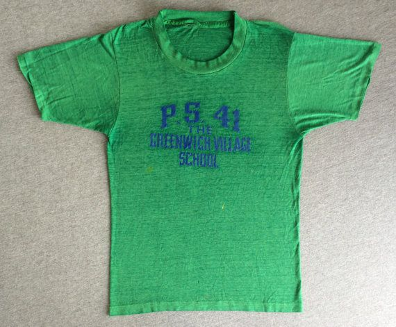 7399fbac3 NYC Shirt 70's The GREENWICH VILLAGE School Vintage/ New York City ...