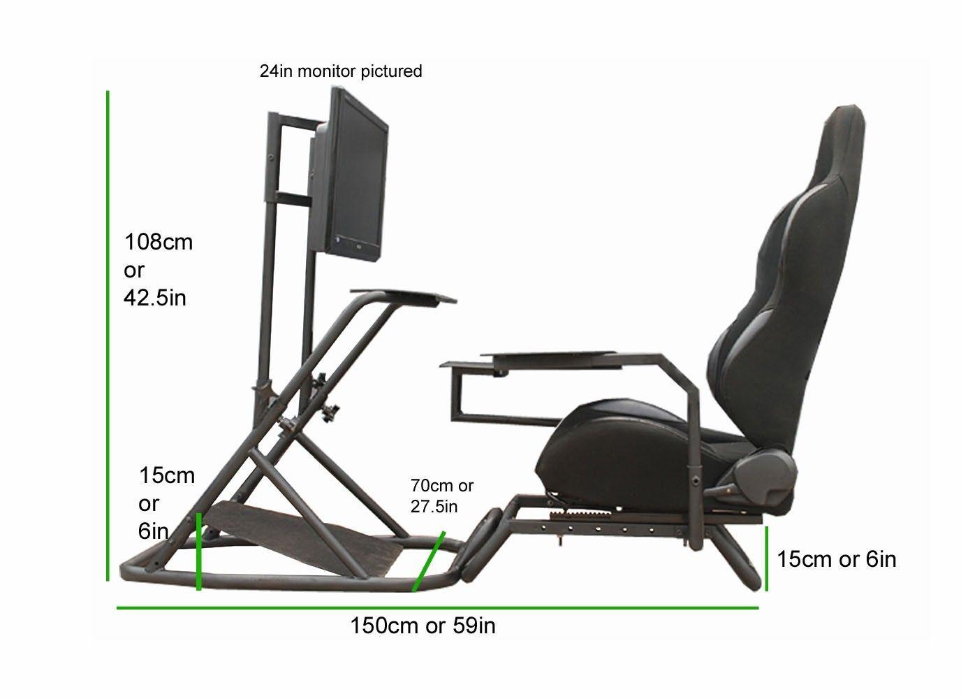 Diy racing cockpits racing simulator video game rooms