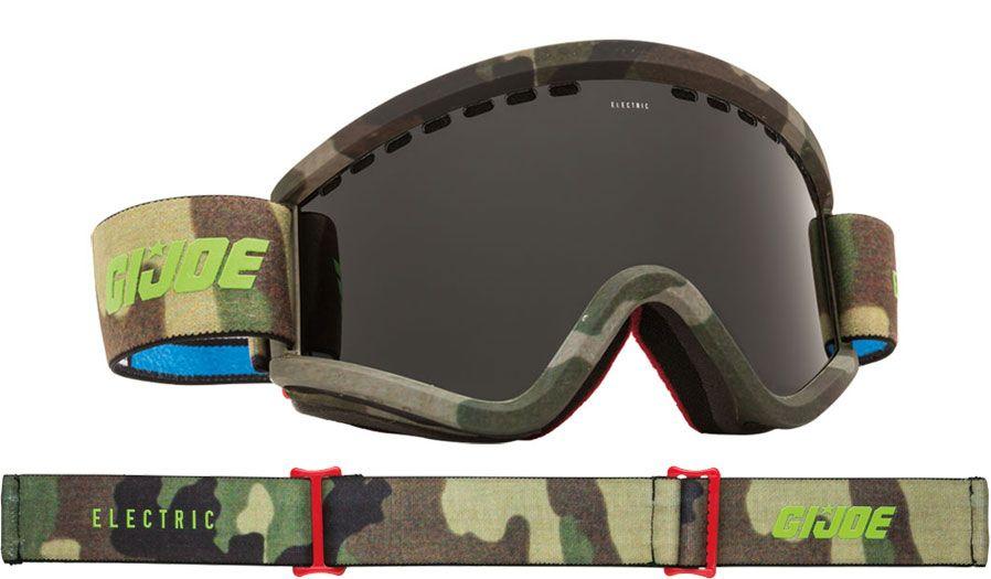 b7728ddb1dc Electric EGV Ski Goggles - G.I. Joe Camo   Jet Black + Light Green - RxSport
