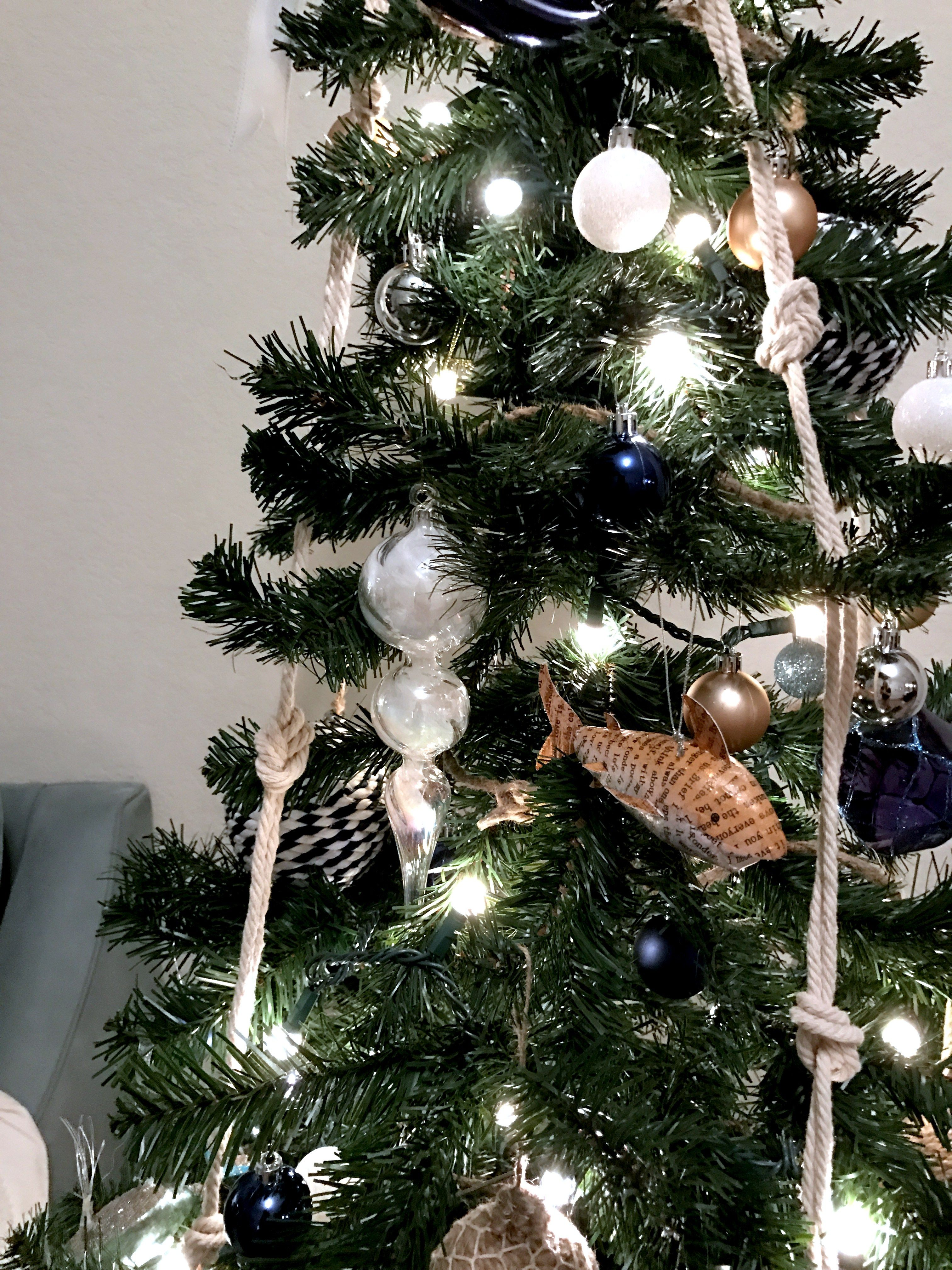 Image result for beach coastal theme christmas trees