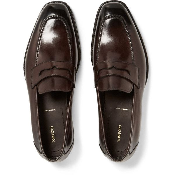 bd7b2921304 TOM FORD Wessex Leather Penny Loafers (2