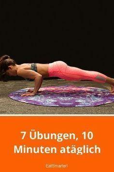 Schnell abnehmen: 7 Übungen, 10 Minuten am Tag   - Fitness - #Abnehmen #Fitness #Minuten #schnell #T...