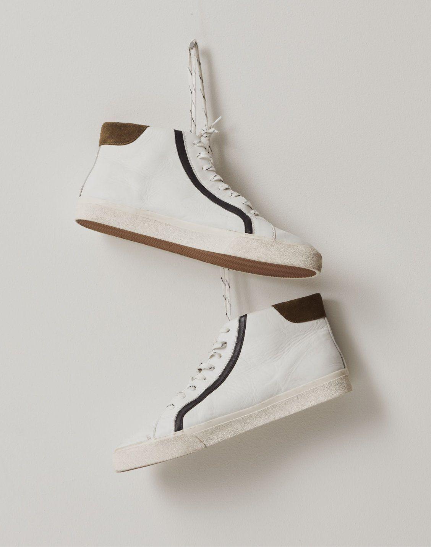 Sidewalk High Top Sneakers In Colorblock Leather Top Sneakers High Top Sneakers High Tops