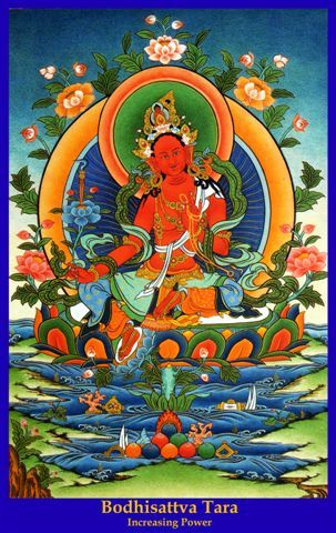 Red Tara Mantra  OM TARE TAM SOHA | Thangka painting, Art