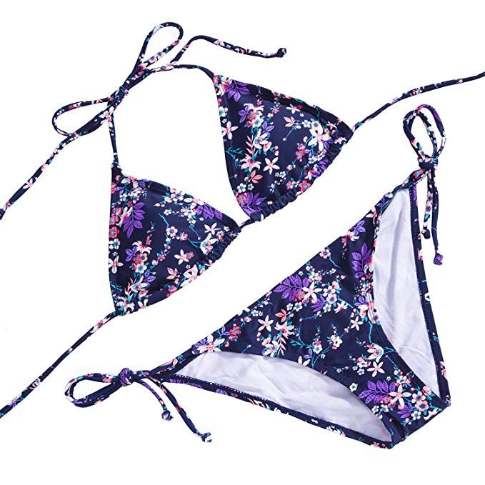 9d99d84425bab5 Paiyiku Women s Triangle Bikini Sets Halter Brazilian Swimsuit ...