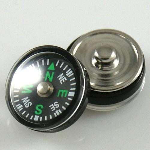 Alissa Chunk Chunks Druckknopf Druckknöpfe Snap Bead für Armband Kompass