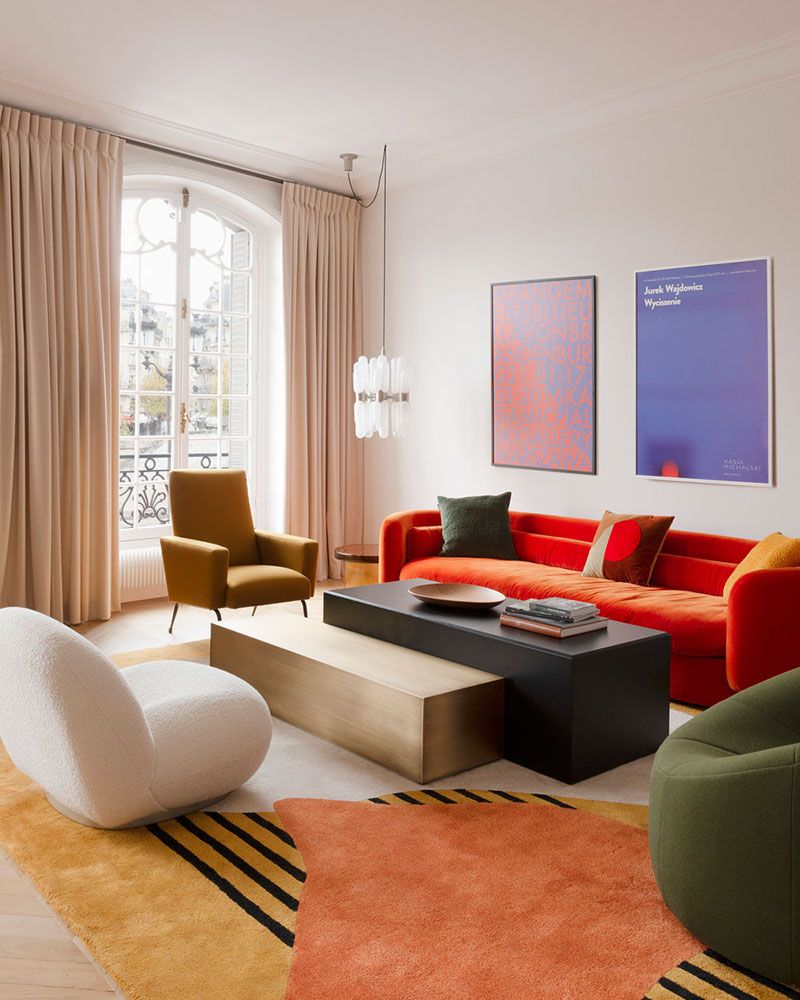 〚 Colorful modern apartment on Saint-Louis island in Paris 〛 ◾ Фото ◾Идеи◾ Дизайн