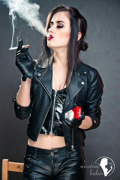 Leather Women Smoking