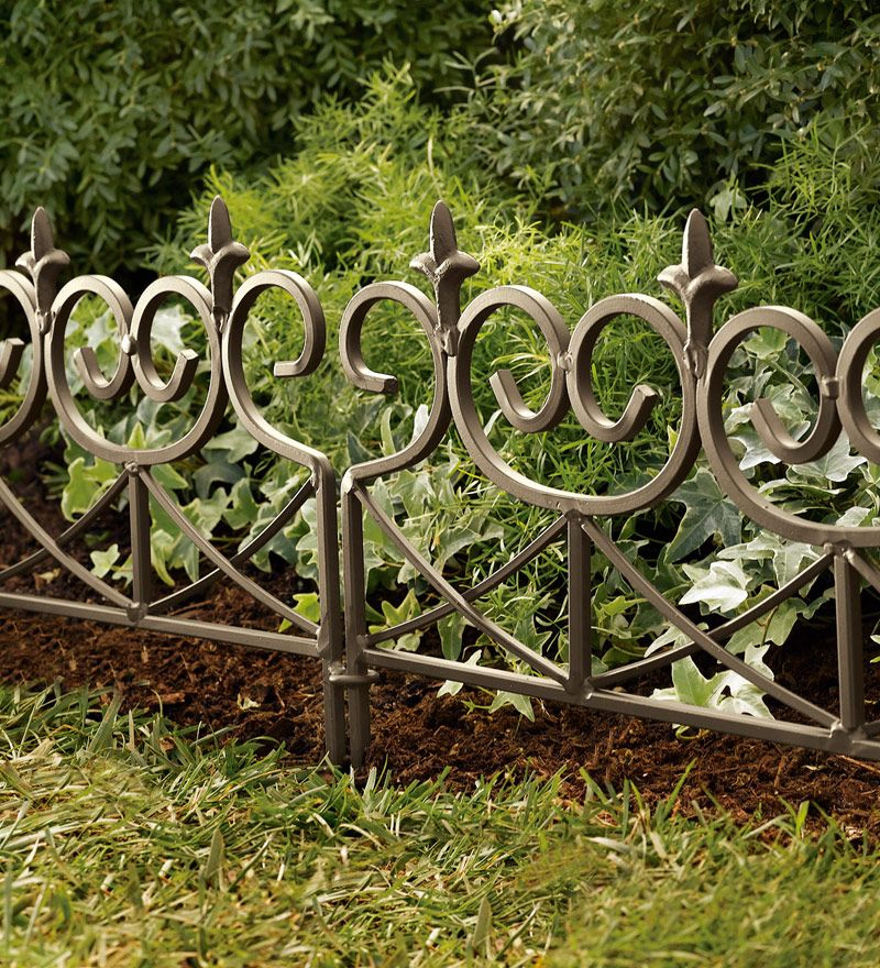Easy-Locking Fleur-De-Lis Garden or Flower Bed Edging | Flower ...