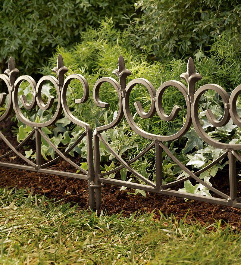 Easy Locking Fleur De Lis Garden Or Flower Bed Edging Flower Bed