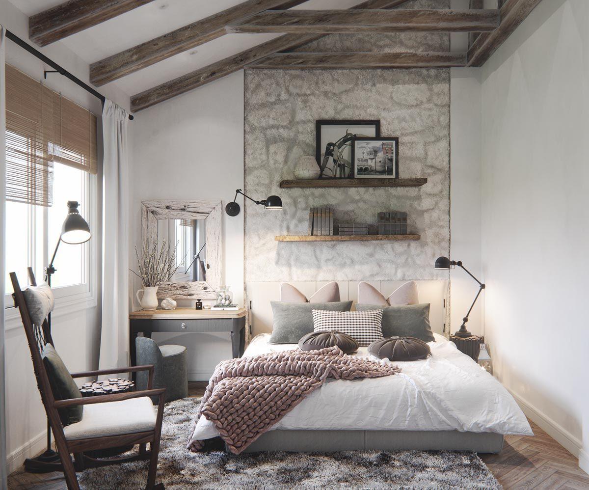 2 Homes In Mediterranean Rustic Chic Stylish Bedroom Bedroom
