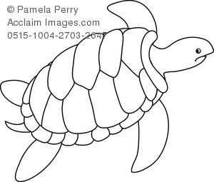 Sea Turtle Drawing Outline Outline Of A Turtle Clipart