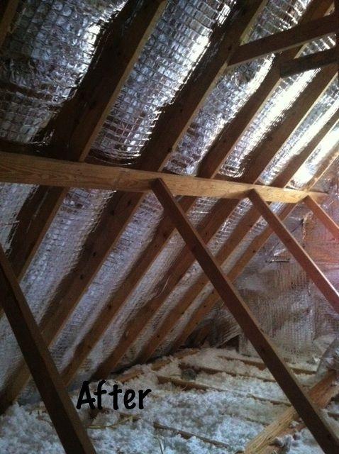 Diy Installation Adding Radiant Barrier Insulation Home Insulation Diy Installation Radiant Barrier Insulation
