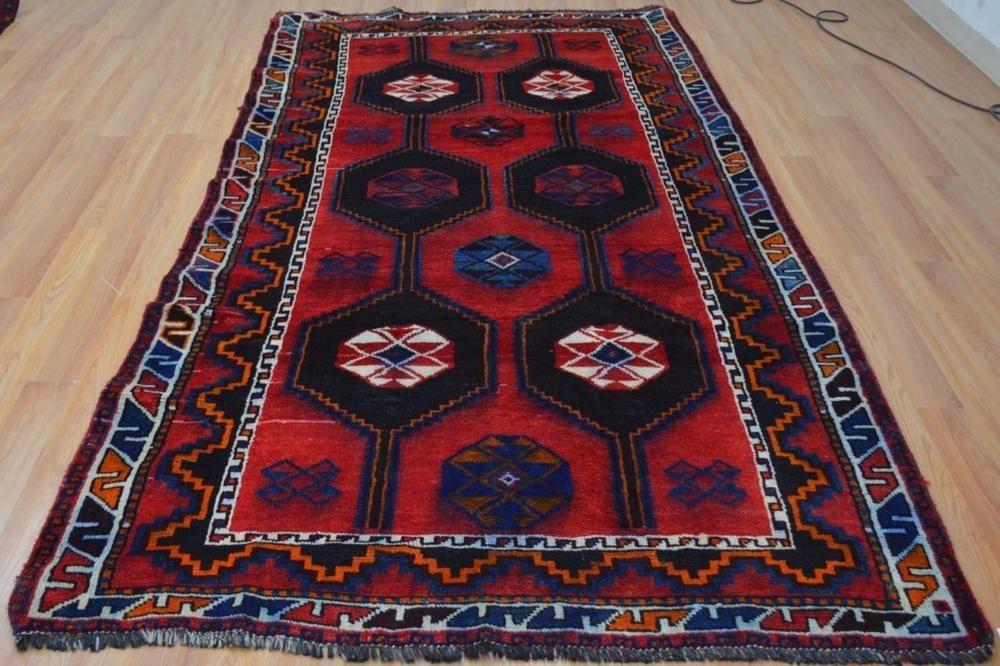 5x9'10 Geometric Beautiful Genuine Persian Tirbal Shiraz Handmade Wool Area Rug #Persian