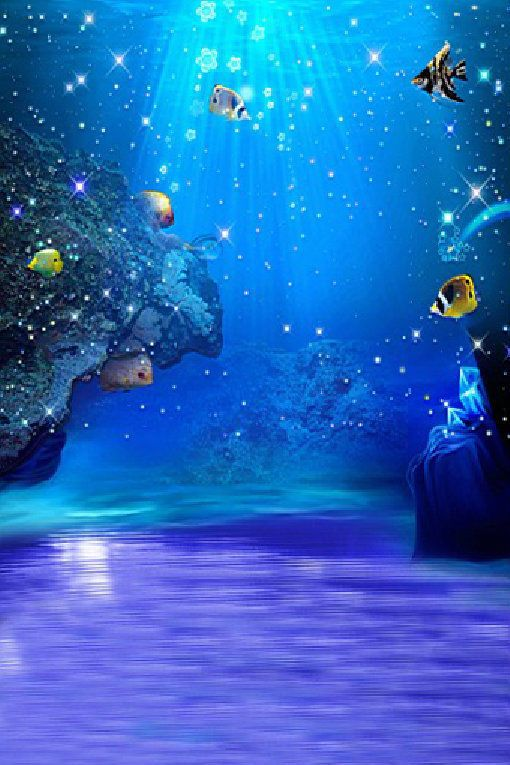 Studio Photography Prop Blue Ocean Personalized Backgrounds Vinyl