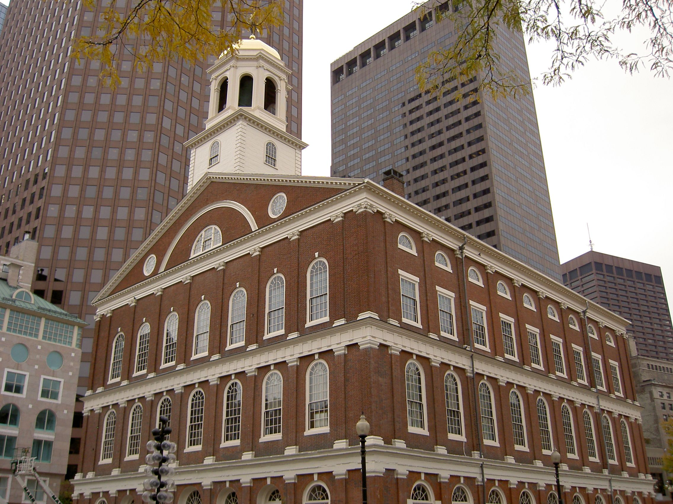 Prior to being repaired in 2007, the bell atop Faneuil Hall last rang using its clapper at the end of World War II, in 1945.