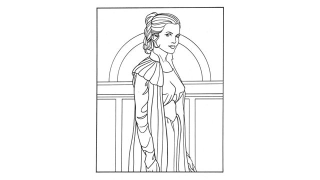 Star Wars Princess Leia Coloring Pages Star Wars Princess Leia Star Wars Princess