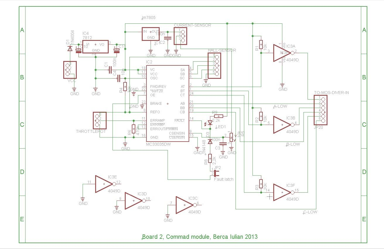 Updated Brushless Controller Schematic