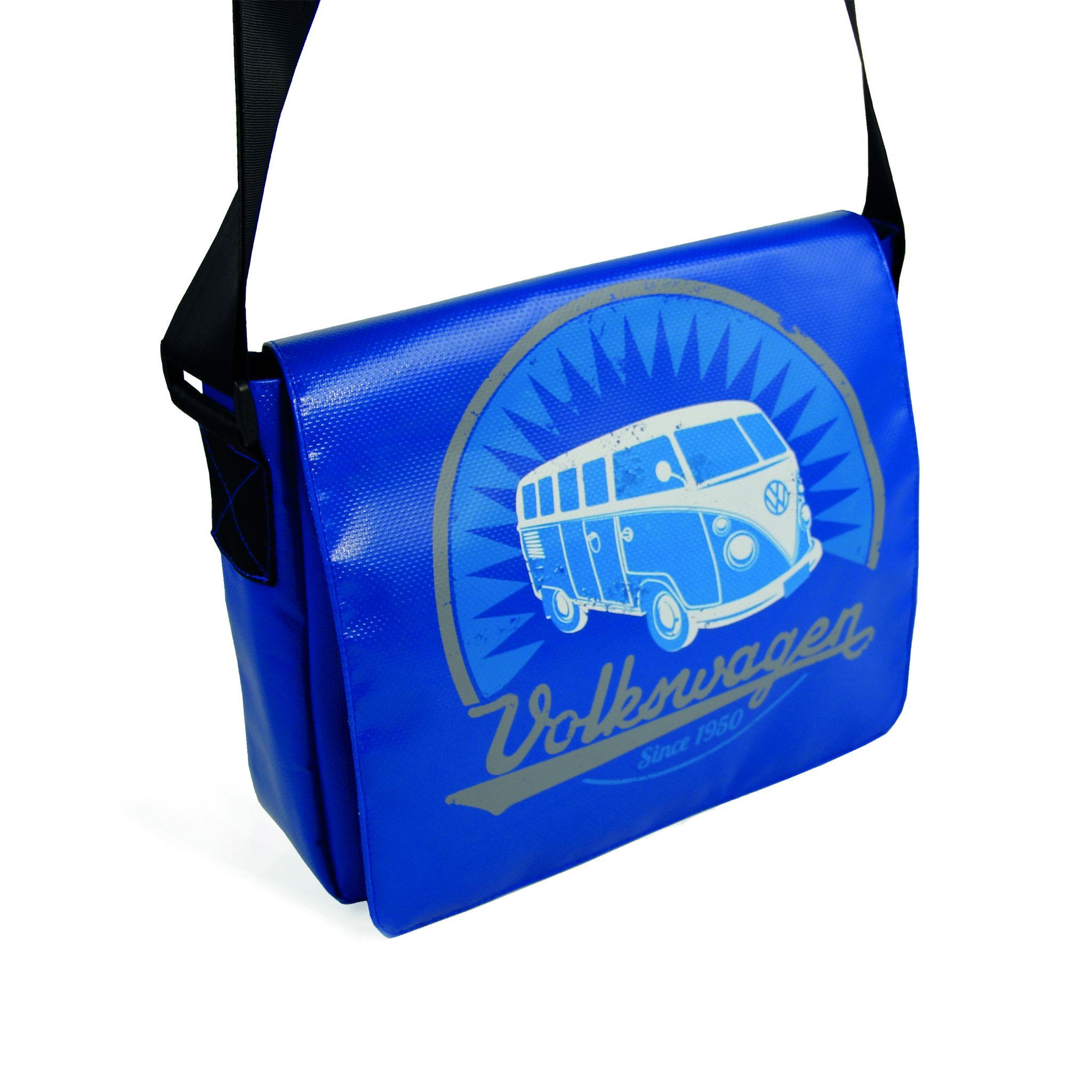 Photo of Officially Licensed Volkswagen Bus Tarpaulin Shoulder Bag-Blue