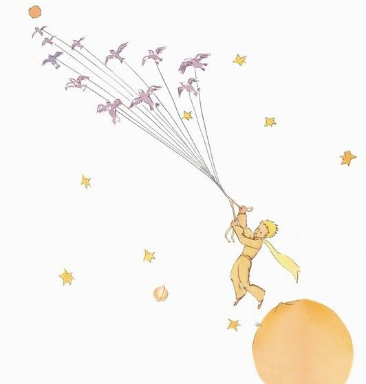 The Little Prince Flying With Birds Pesquisa Google Festa