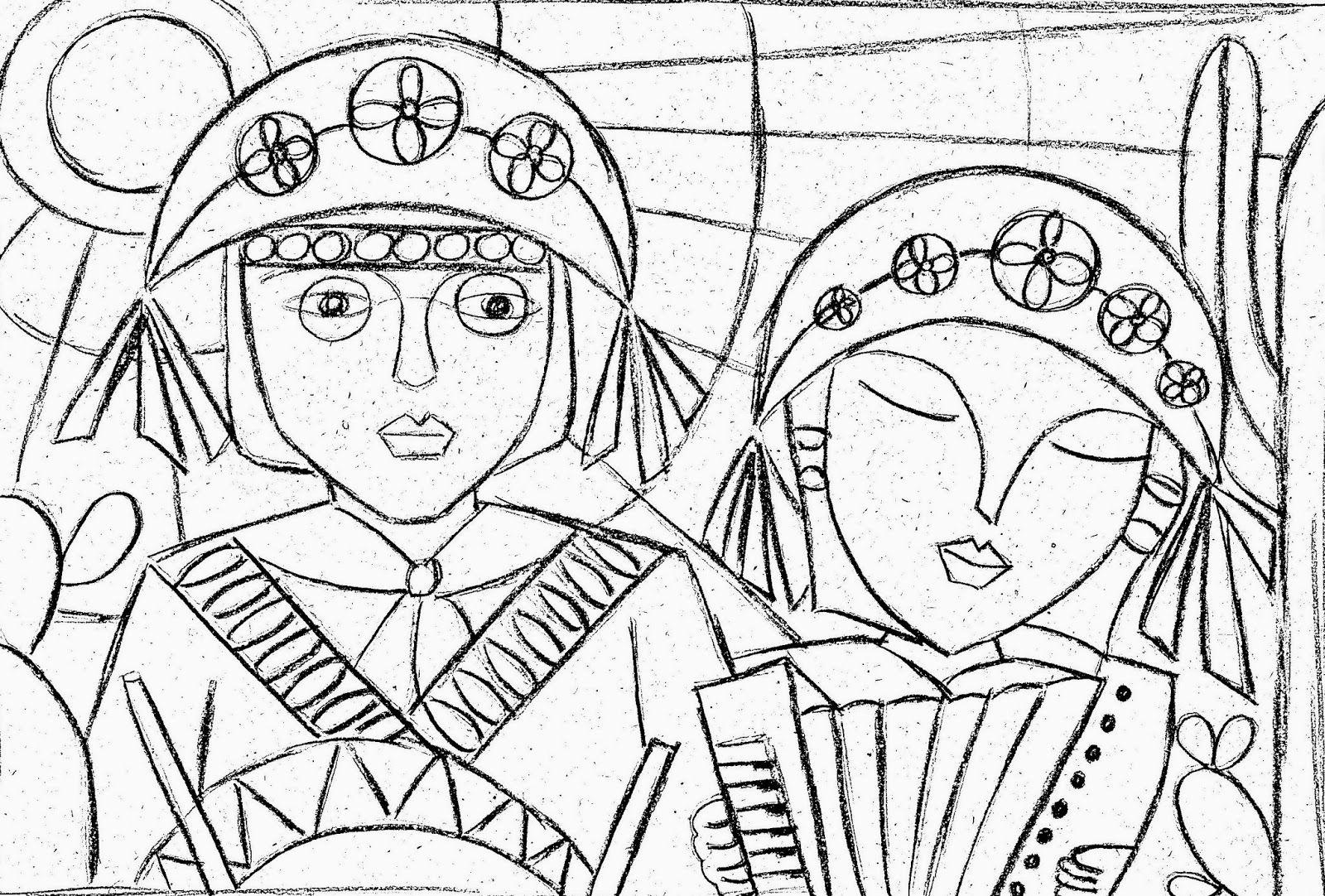 Licia Fazendo Arte Lampiao E Maria Bonita Desenhos De Cordel