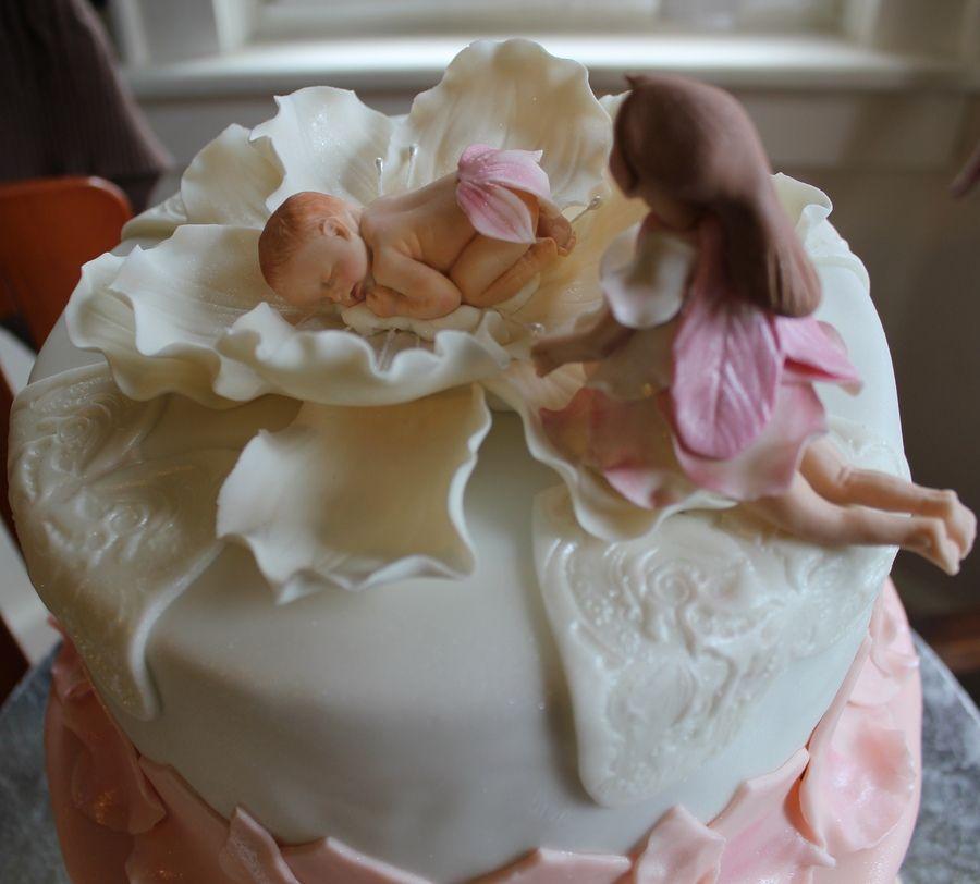 Gum Paste Baby Flower And Fairy Cakes Pinterest Cake Baby