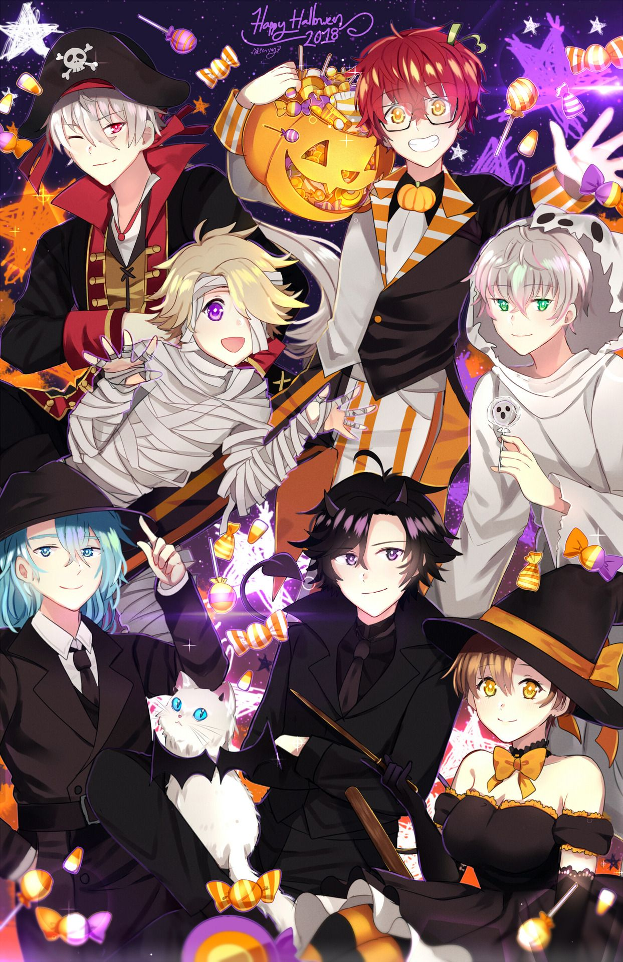 Mystic Messenger Halloween Event 2020 Pin by Rin Andrews on Mystic messenger in 2020 | Mystic messenger
