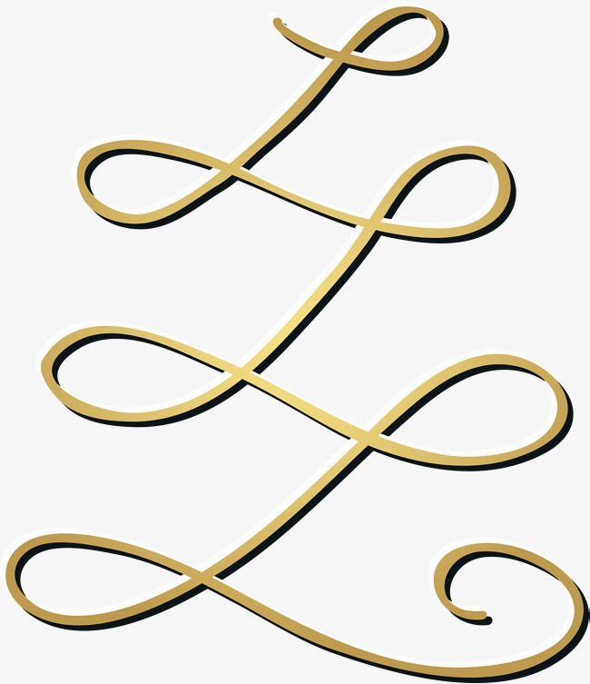 golden honorable curve line atmosphere pattern decorative pattern rh pinterest com