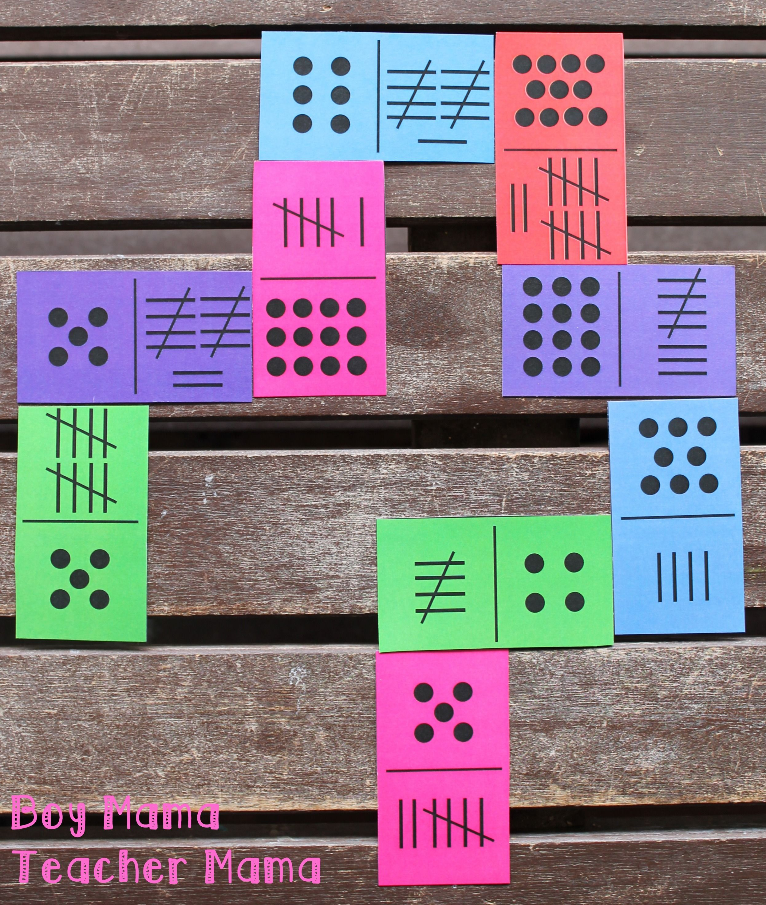 Teacher Mama Tally Mark Dominoes After School Linky In