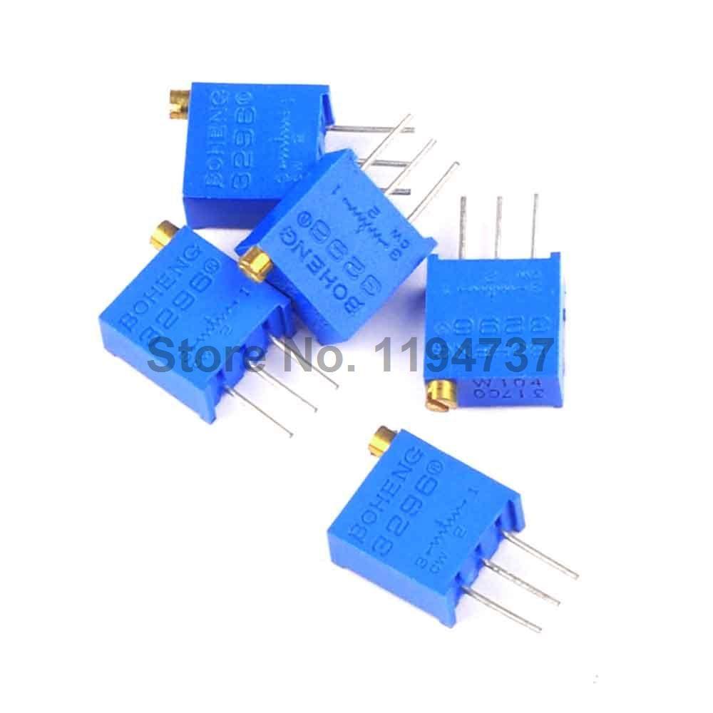 50pcs 3296w 1 502lf 5k Potentiometer Variable Resistors Resistor Circuit Affiliate