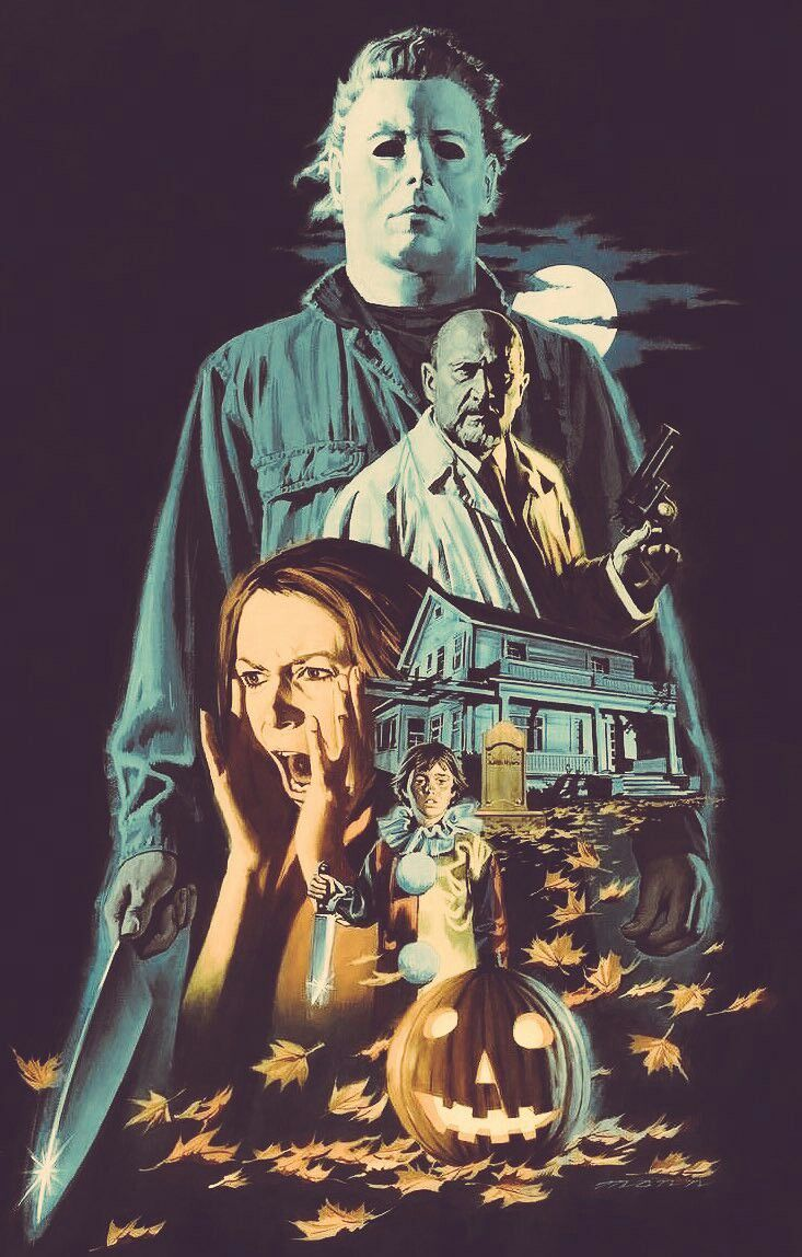 Halloween Movie Art Edit 🔪🔪 Horror movie icons