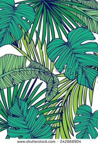 tropical island leaf vector/illustration