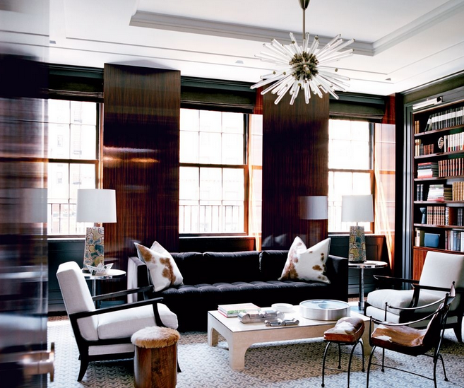 Art Deco Library In NY Penthouse (Architectural Digest