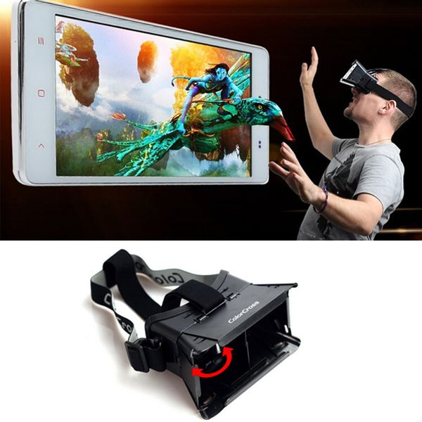 e06b3ef08a0e Colorcross II Head Mount Plastic VR Virtual Reality 3D Glasses With Magnet Google  Cardboard for 3D