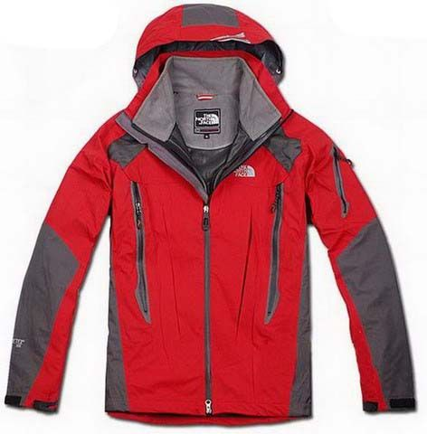 9cf19760d North Face Mens Triclimate 3 In 1 Jacket All Red Gray | North Face ...