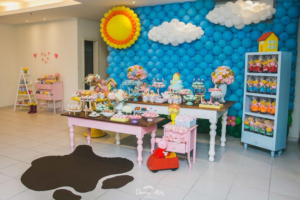 Festa Infantil Cecilia 2 Anos Tema Peppa Pig Com Imagens