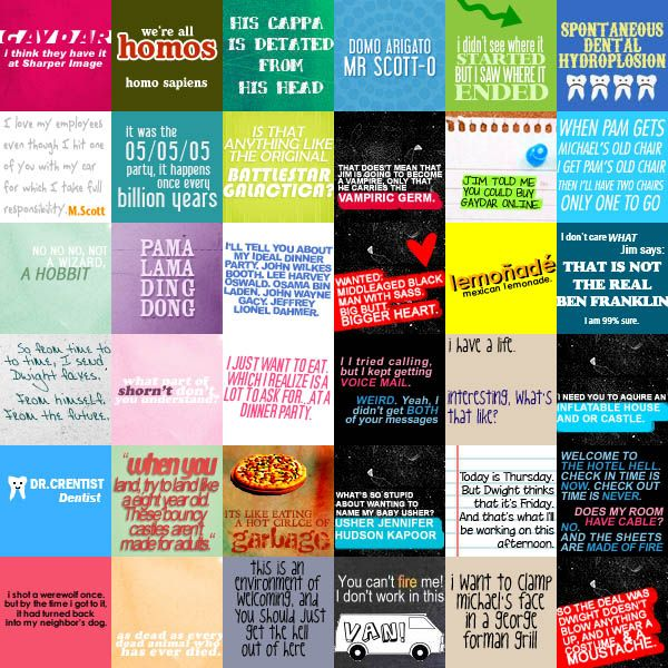 Office fan art | Office quotes, Quote collage, The office