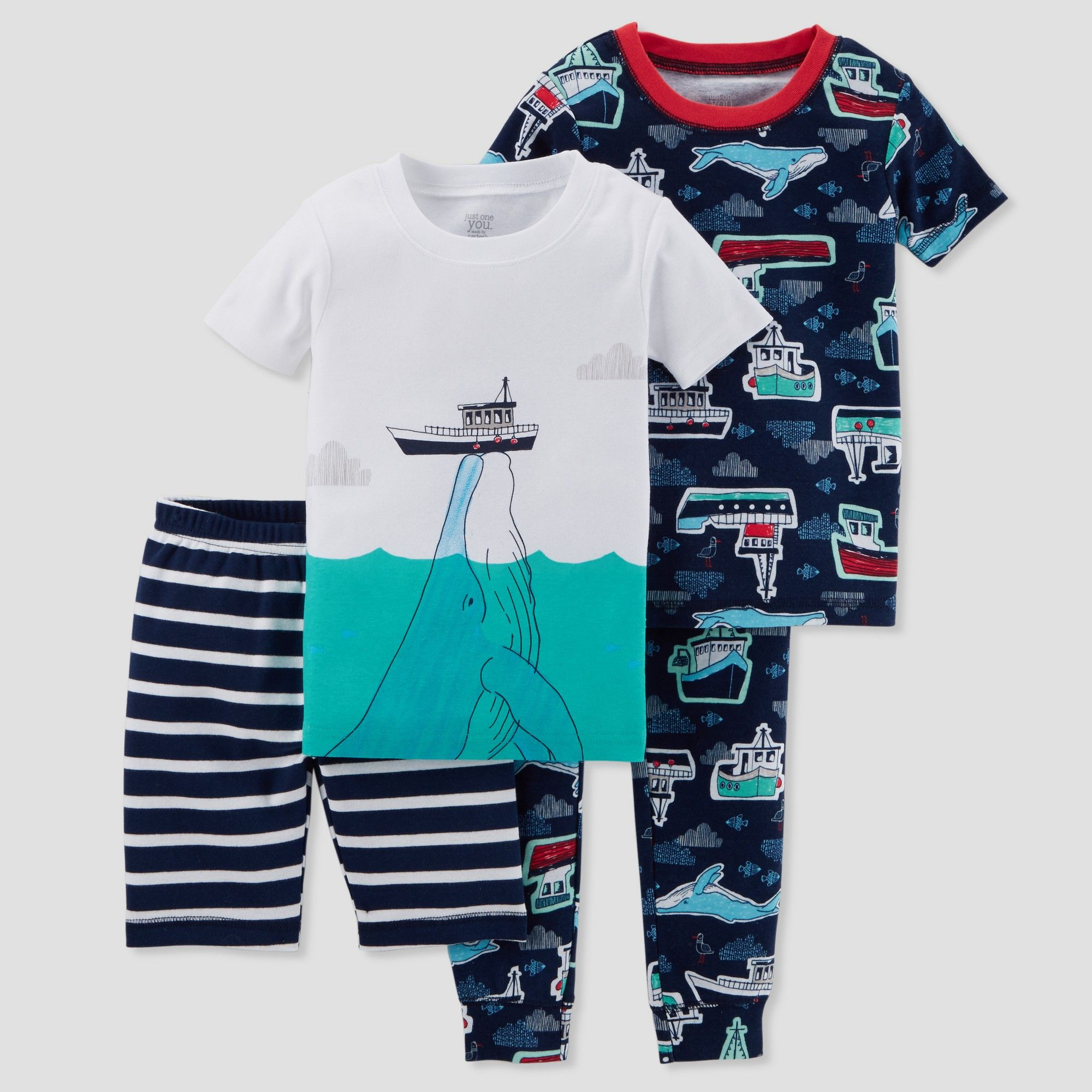 388c622e6 Baby Boys  4pc Whale   Boats Pajama Set - Just One You made by ...